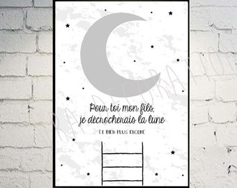 Moon - decor - poster