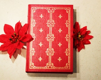 Pride and Prejudice Jane Austen Red Hard Cover Vintage Illustrated Book Classic Romance Masterpiece