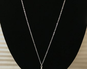 Feather Necklace Silver Plated | Simple Necklace | Long Necklace