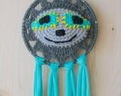 50% OFF CODE: DISCOSLOTH2554 Disco Sloth Crocheted Dreamcatcher