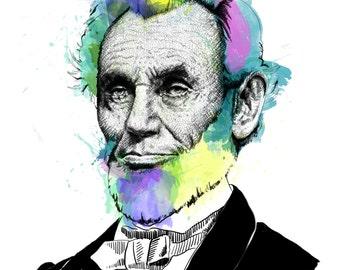 Lincoln, Abraham // Portrait Art Print
