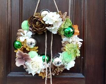 Christmas Wreath   Front Door Wreath   Floral Wreath   Crown   Artificial Blooms Wreath   Handmade Wreath   Wall Décor