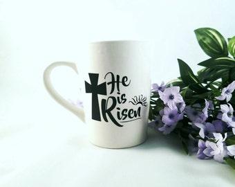 He is Risen   Easter   Easter Gift   Easter Mug   Gift for Pastor   Pastor Gift Idea   Pastor Wife   Religious Gift   Bible Verse   Mug Gift