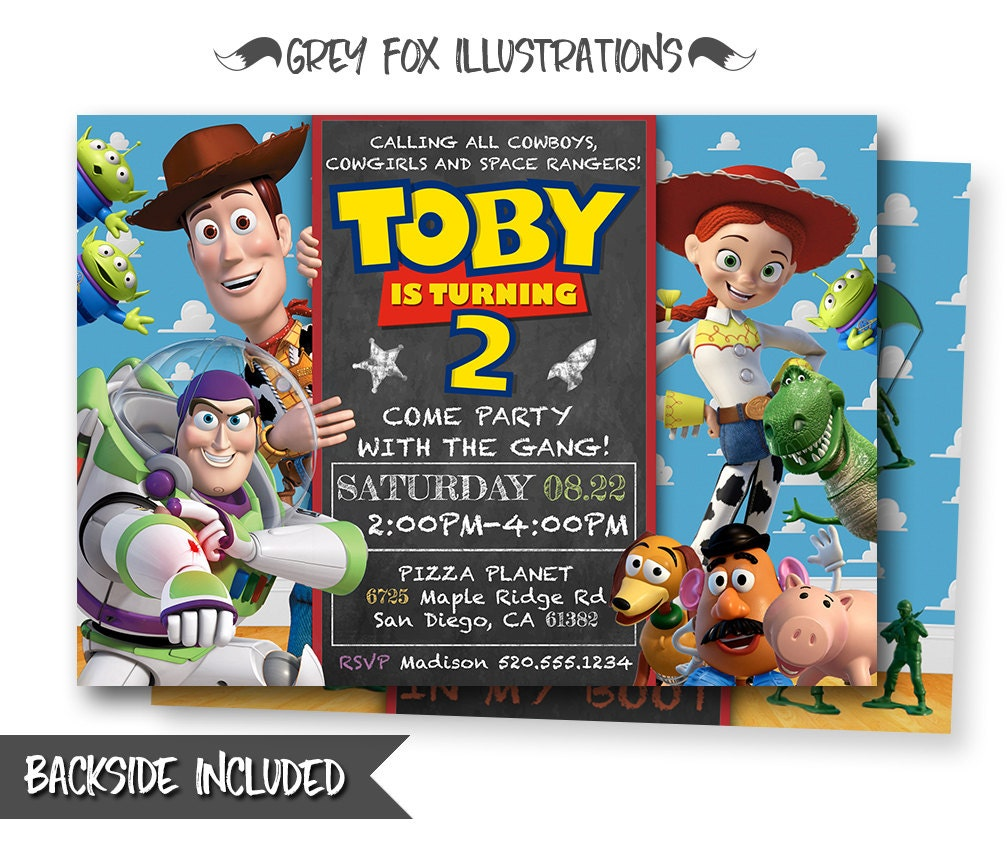 Toy Story Invitation-Toy Story Invite-Disney Pixar Toy Story