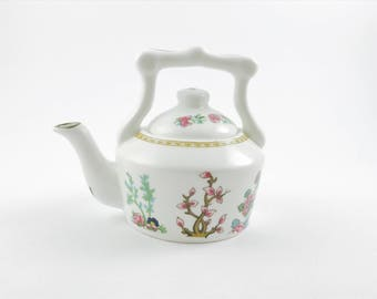 Mini Coalport Bone China Kettle Teapot, Indian Tree Design, Made In England