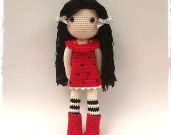 Gorjuss crochet doll