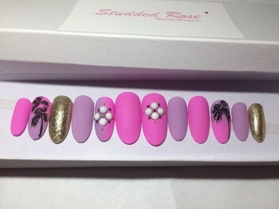 Ocean drive ombre nails oval nails matte nails designer nails ocean drive ombre nails oval nails matte nails designer nails press on nails any shape and size false nails glue on nails reusable from prinsesfo Choice Image