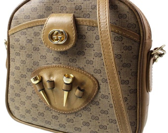 Gucci,shoulder bag, pattern GG, beige. Authentic.