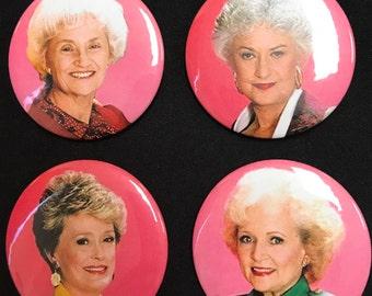 Golden Girls Pinback Buttons