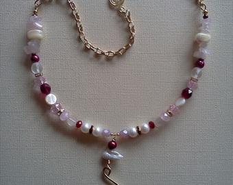 Rose zen necklace