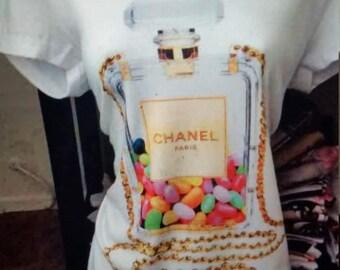 SALE! Chanel fashion V-neck t-shirt