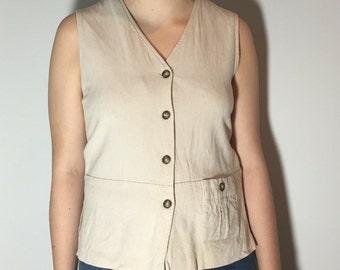 Linen Tank Top - Vintage clothing