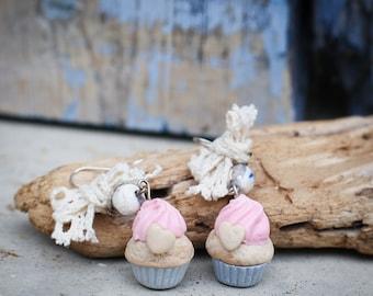 Fimo Cupcake earrings