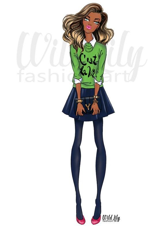 FASHION WALL ART Fashion Clip Art Digital Fashion