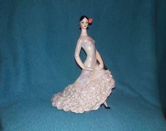 Antique Carmen Spanish Senorita Lady Dancer Porcelain figurine Statue USSR USSR