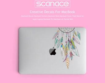 Macbook Decals Macbook Stickers Macbook Skins Macbook Cover Vinyl Decal for Apple Laptop Macbook Pro Macbook Air Feather dreamcatcher