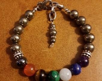 Chakra Pyrite Balance Bracelet