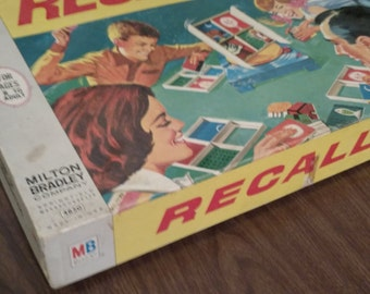 Vintage 1968 Recall Board Game by Milton Bradley
