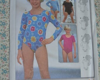 Burda 2719 Kids Bodystocking Sewing Pattern - UNCUT - Size 3 4 5 6 7 8