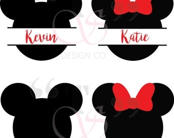 Disney Mickey Minnie svg file for Cricut, Silhouette, and similar cutting machines