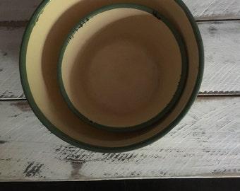 vintage enamel bowls, food photography prop, food styling prop