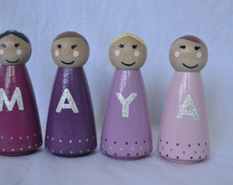 Personalised Name Peg Dolls