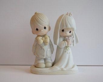 Precious Moments Bride and Groom Wedding Figurine Cake Topper #70