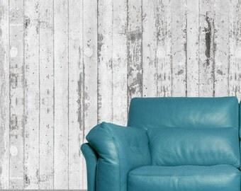 Concrete Wallpaper - Concrete Deco Mural - Light Grey Cement Removable Wallpaper - Modern Home Decor- Concrete Wall Decor - Concrete Design