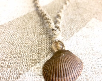 Hemp Seashell Necklace