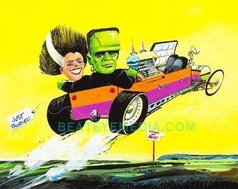 Bill Campbell,FRANKENSTEIN,weird ohs,hot rod,rat fink,ed roth,big daddy roth,model kits,revell,models,COMIC,comic book,HALLOWEEN,weirdohs