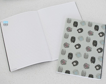 Cat Notebooks (A5 Stitch Bind Round Corner)