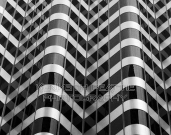Modern black and white architectural photography. San Francisco print #2.