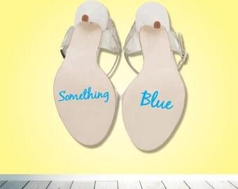 Something blue wedding shoe heel sticker - Bride Groom decal - something blue - Wedding day - Bride  Groom shoe decal - Gift