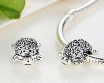 Authentic Sterling Silver Turtle charm beads perfect fit for pandora and troll or european bracelets