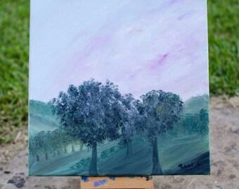 Ohio Sunset, Original Oil Painting