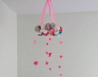 Baby Girl Flower Mobile
