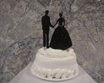 Silhouette   Bride and Groom Cake Topper
