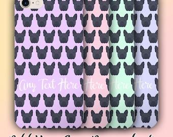 Blue French Bulldog Phone Case Personalised - iPhone 5/5s/5c/6/6s/6Plus/7/7Plus - Blue Frenchie