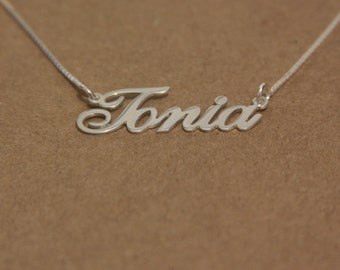name chain necklace - names necklace silver - name charm necklace