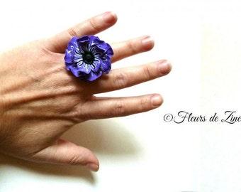 Purple Peony ring
