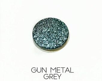 Pressed Glitter Eyeshadow - 'Gun Metal Grey'
