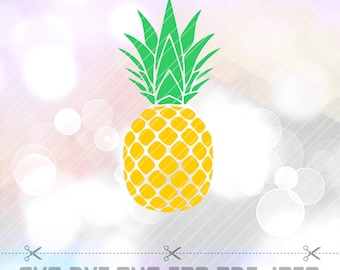 Pineapple Layered SVG DXF Png Ananas Summer Vector Cut File Cricut Designs Silhouette Studio Cameo ScanNcut Stencil Decal Vinyl Decorations