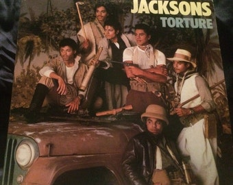 Jacksons - Torture (1984) Record LP