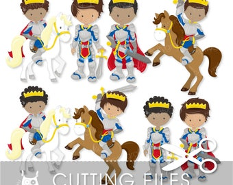 Fairytale prince cutting files, svg, dxf, pdf, eps included - knight cutting files for cricut and cameo - Cutting Files SVG