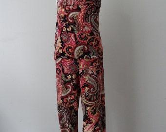 Boho style girl's pants + top Size 3