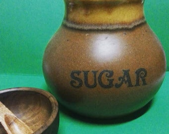 Stewart Pottery New Zealand Sugar Canister with Cork Lid