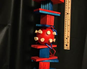 Blocks and Ball Parrot Toy