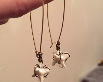 wire-wrapped snake vertebrae earrings