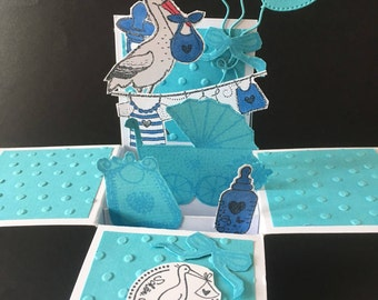 Baby it's a boy 3D pop-up card