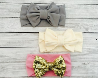 Baby Headbands, Baby Girl Headband, Baby Hair Bows, Baby Headwrap, Baby Headband Bows, Newborn Bows, Baby Girl Bows, Baby Headband Set